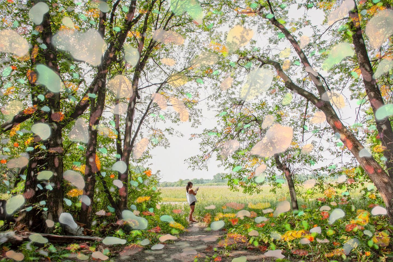 "Sarah Anne Johnson CPIP, 2020 Pigment Print with Acrylic Paint 39 5/8"" x 59 1/2"" (100.5 x 151 cm) © Sarah Anne Johnson, Courtesy Yossi Milo Gallery, New York"