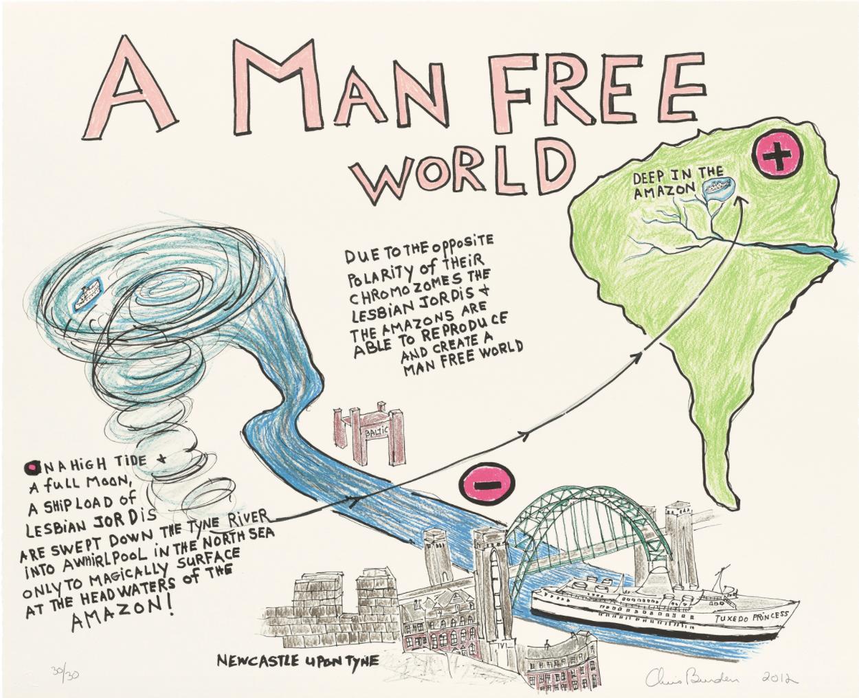 Chris Burden, A Man Free World