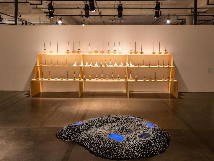 'The Rive Is a Serpent', 2021, exhibition view, Frestas Triennial of Arts, SESC Sorocaba. Courtesy: Frestas Triennial of Arts, SESC Sorocaba; photography: Matheus José Maria