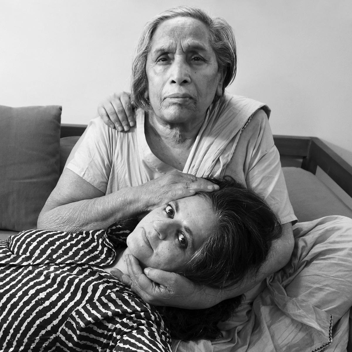 Nixi became Dayanita Singh, the photographer, here on the lap of her favourite Mona Ahmed, New Delhi. 2013