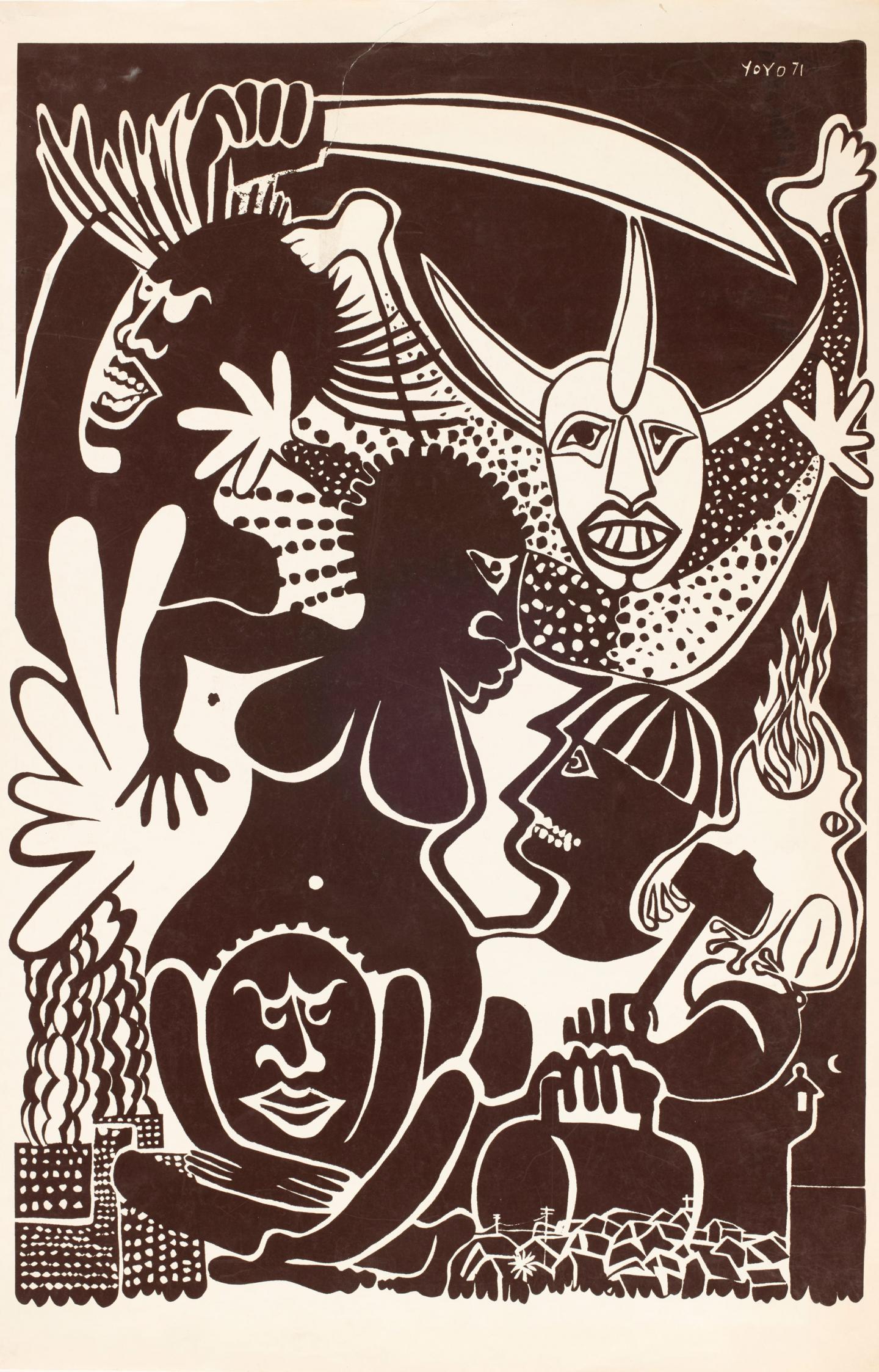 Yoyo Rodriguez, Untitled, 1971, serigraph