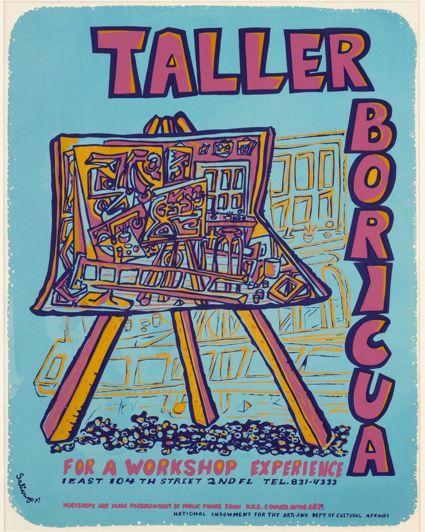 Fernando Salicrup, Taller Boricua, serigraph, 1977