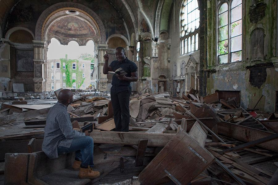 Theaster Gates, Gone are the Days of Shelter and Martyr, 2014 Video, sound, color; 6:31 min Courtesy the artist and Regen Projects, Los Angeles