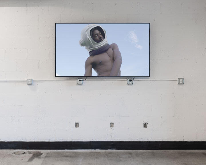 Imani Dennison, NO MAS – Irreversible Entanglements (still), 2020. Site-specific installation organized by moCa Cleveland as part of Imagine Otherwise. Photo: Field Studio.