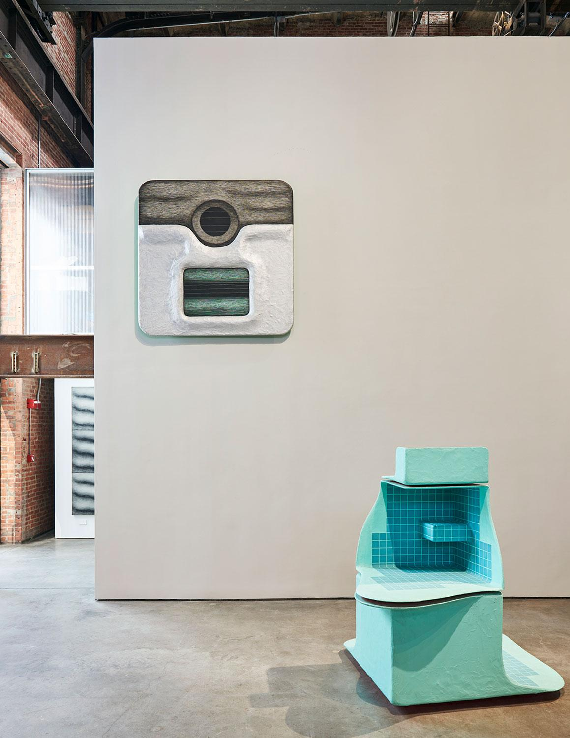 Tishan Hsu: Liquid Circuit, installation view, SculptureCenter, New York, 2020. Photo: Kyle Knodell