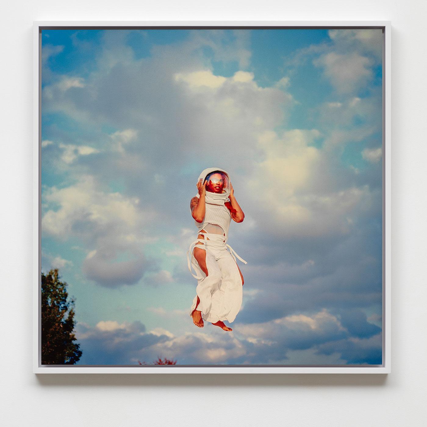 Summer Azure, 2020 Dye sublimation print 29 1/2 × 30 inches (74.93 × 76.20 cm)