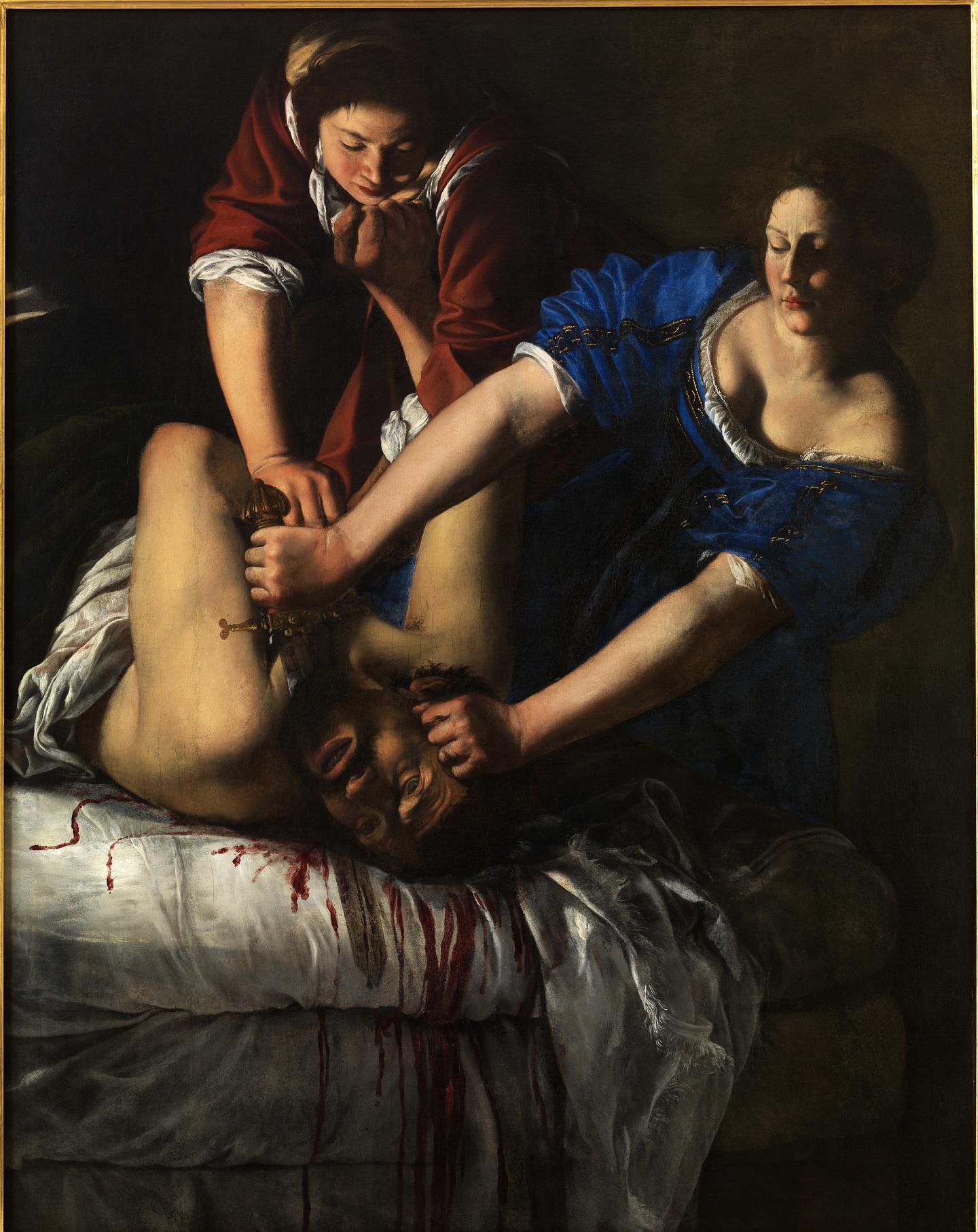 Artemisia Gentileschi Judith beheading Holofernes, about 1612-13 Oil on canvas 158.8 × 125.5 cm Napoli, Museo e Real Bosco di Capodimonte (Q378) © ph. Luciano Romano / Museo e Real Bosco di Capodimonte 2016