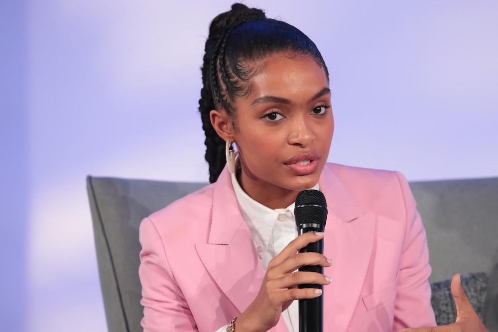 Actress Yara Shahidi speaks to guests at the Obama Foundation Summit on the campus of the Illinois Institute of Technology on October 29, 2019 in Chicago, Illinois. The Summit is an annual event hosted by the Obama Foundation.