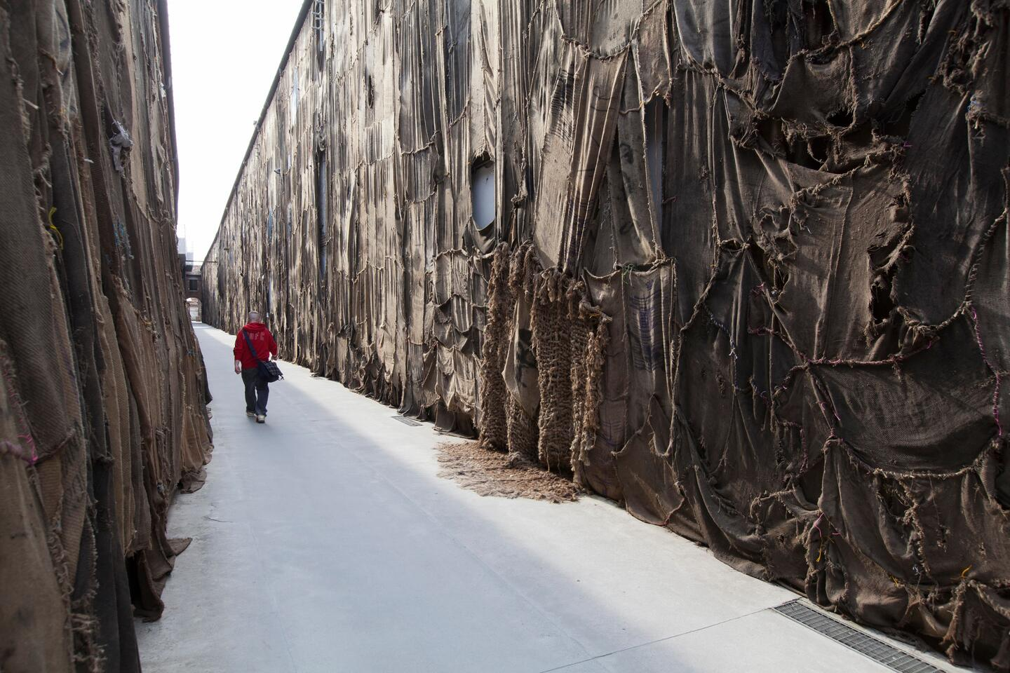 Jute sack installations at the Venice Biennale 2015