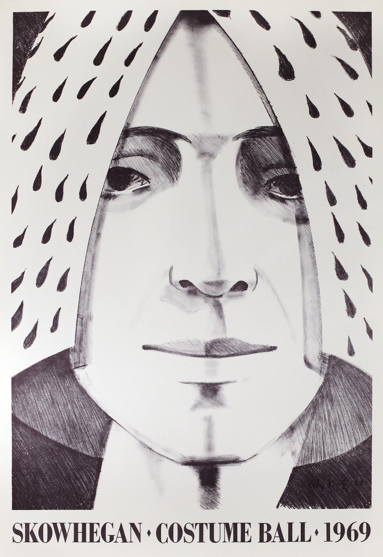 "Skowhegan Costume Ball, 1969 31"" x 21.75"" (78.74 cm x 55.245 cm) Lithograph"