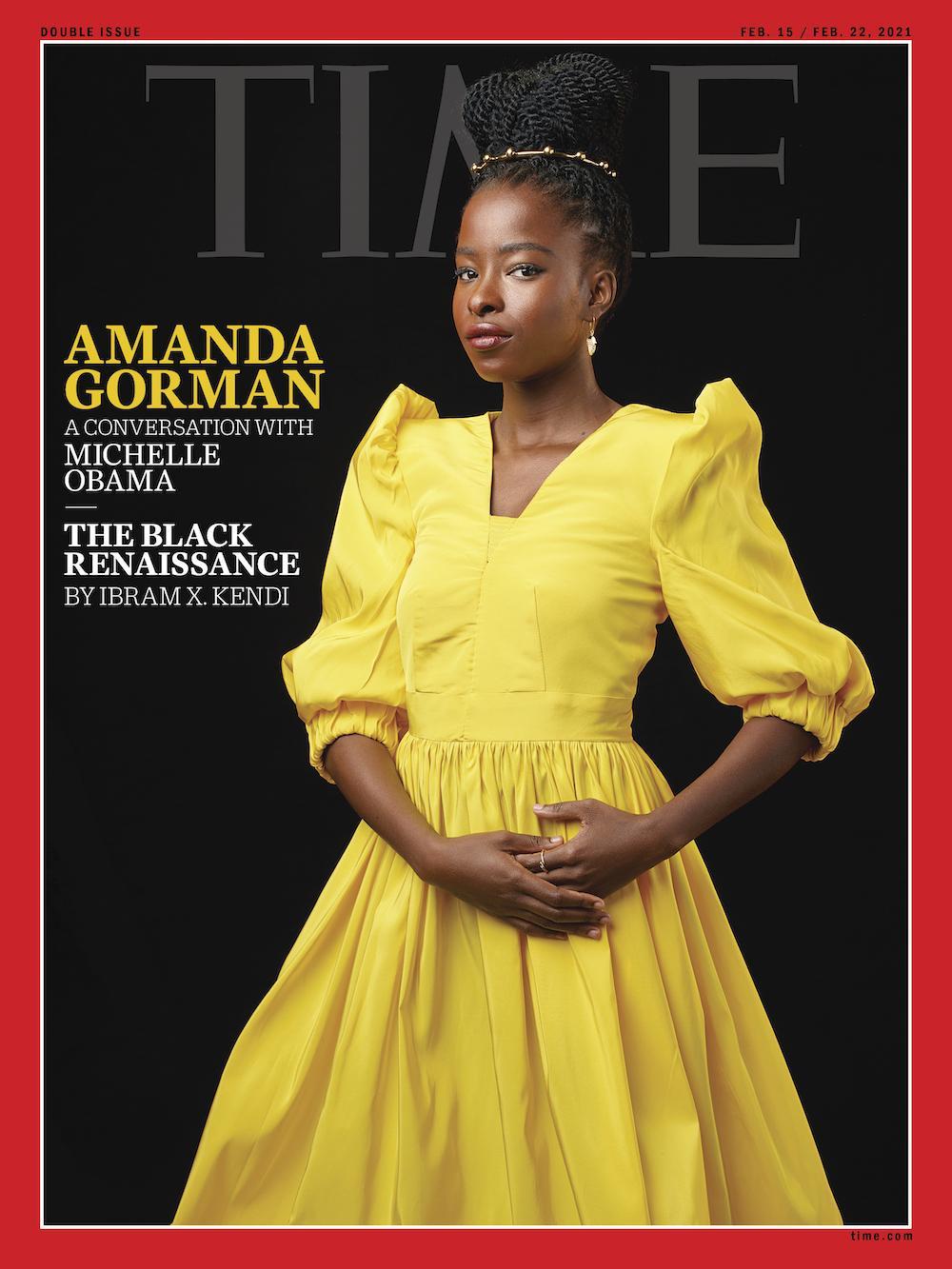 Amanda Gorman on TIME. Photo by Awol Erizku