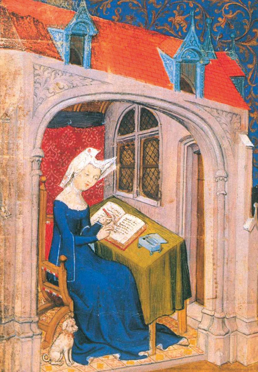 Illustration from Christine de Pizan, The Book of the City of Ladies, 1405. Courtesy: British Library, London