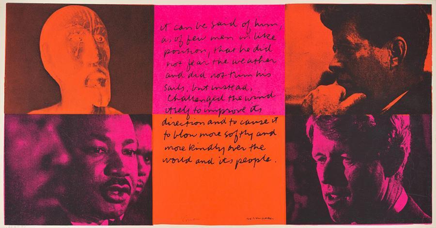 Corita Kent, it can be said of them, 1969, serigraph, 30.5 × 58.4 cm. Courtesy: Corita Art Center, Immaculate Heart Community, Los Angeles; photograph: Arthur Evans