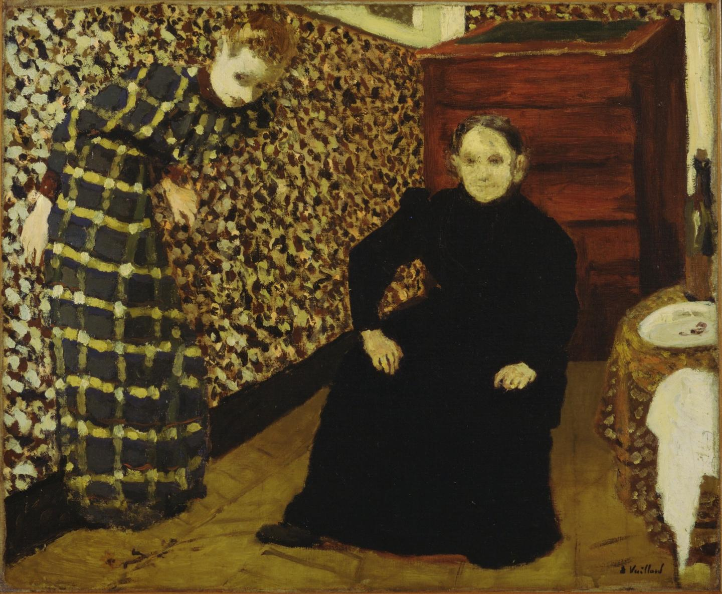 Édouard Vuillard, Interior, Mother and Sister of the Artist, 1893, oil on canvas, 46.3 x 56.5 cm. Courtesy: Museum of Modern Art, New York and © 2020 Artists Rights Society (ARS), New York / ADAGP, Paris