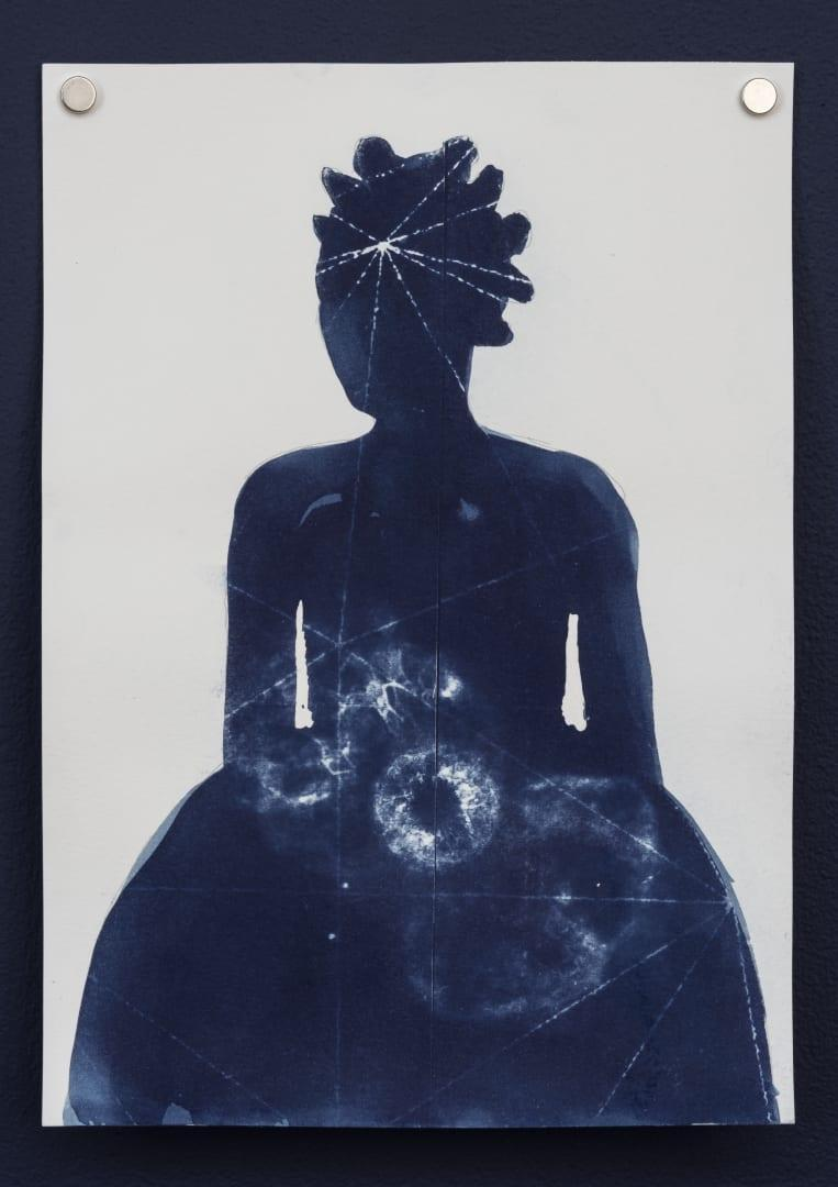 Charmaine Watkiss, Traces of memory - No.3-11, 2020, cyanotype on paper, 21 × 29.7 cm. Courtesy: the artist and Tiwani Contemporary, London