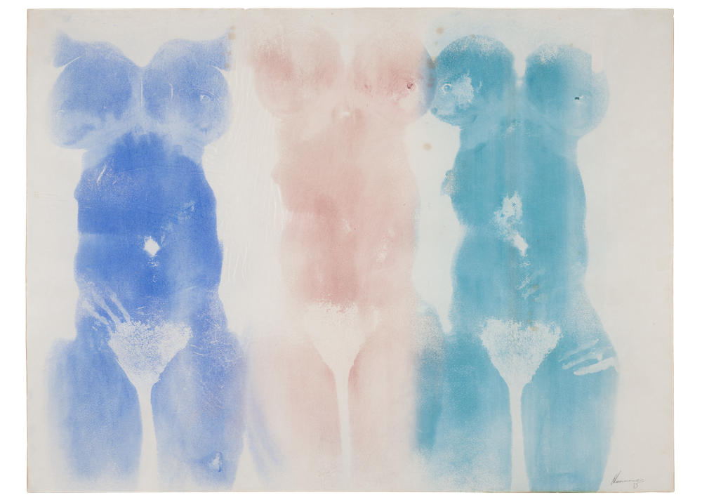 David Hammons, Untitled, 1975, grease and pigment on paper, 77 × 101 cm. Courtesy: Hudgins Family Collection, New York
