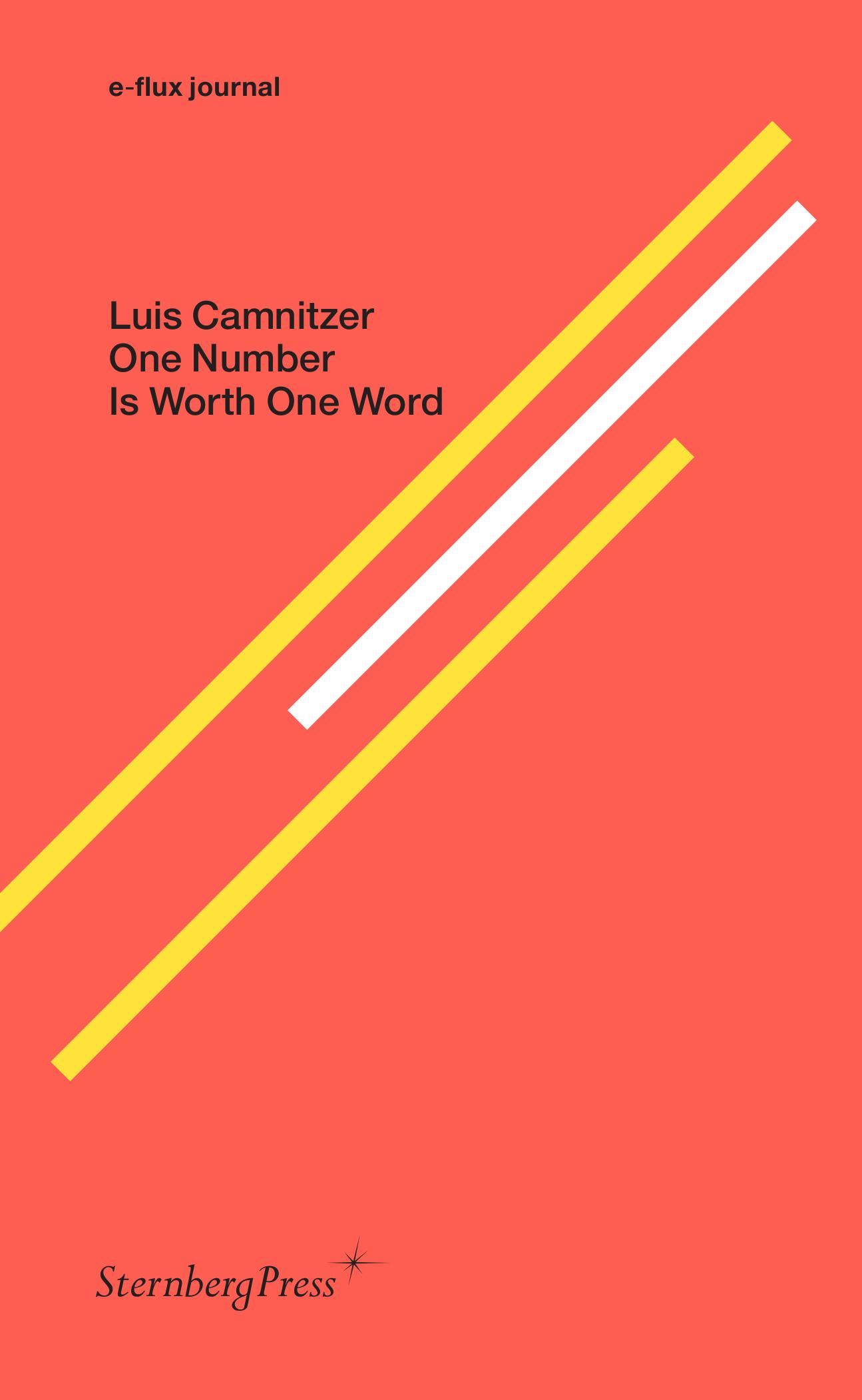 Luis Camnitzer, One Number is Worth One Word, book cover 2020