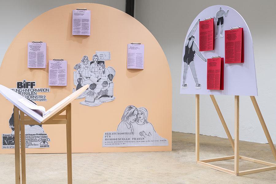 Exhibition View Caring Structures, Kunstverein Hildesheim, 2021, Photograper: Samuel Henne