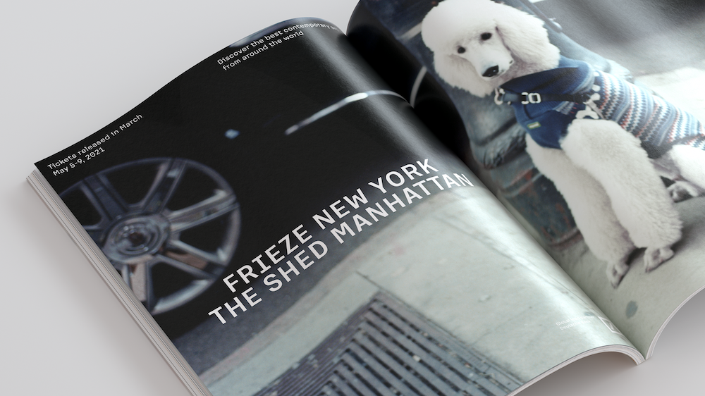 frieze new york ad by Chris Rhodes
