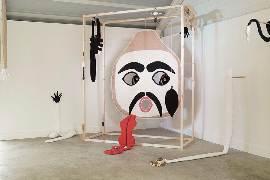 Jonathan Baldock  Jonathan Baldock, 'Pa Ubu', 2015 (installation view). Photo: Jay Parekh.