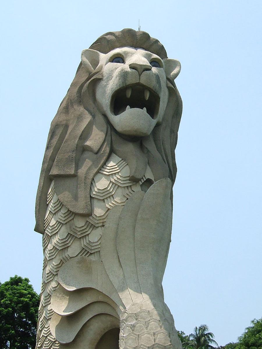 Merlion Statue at Merlion Park
