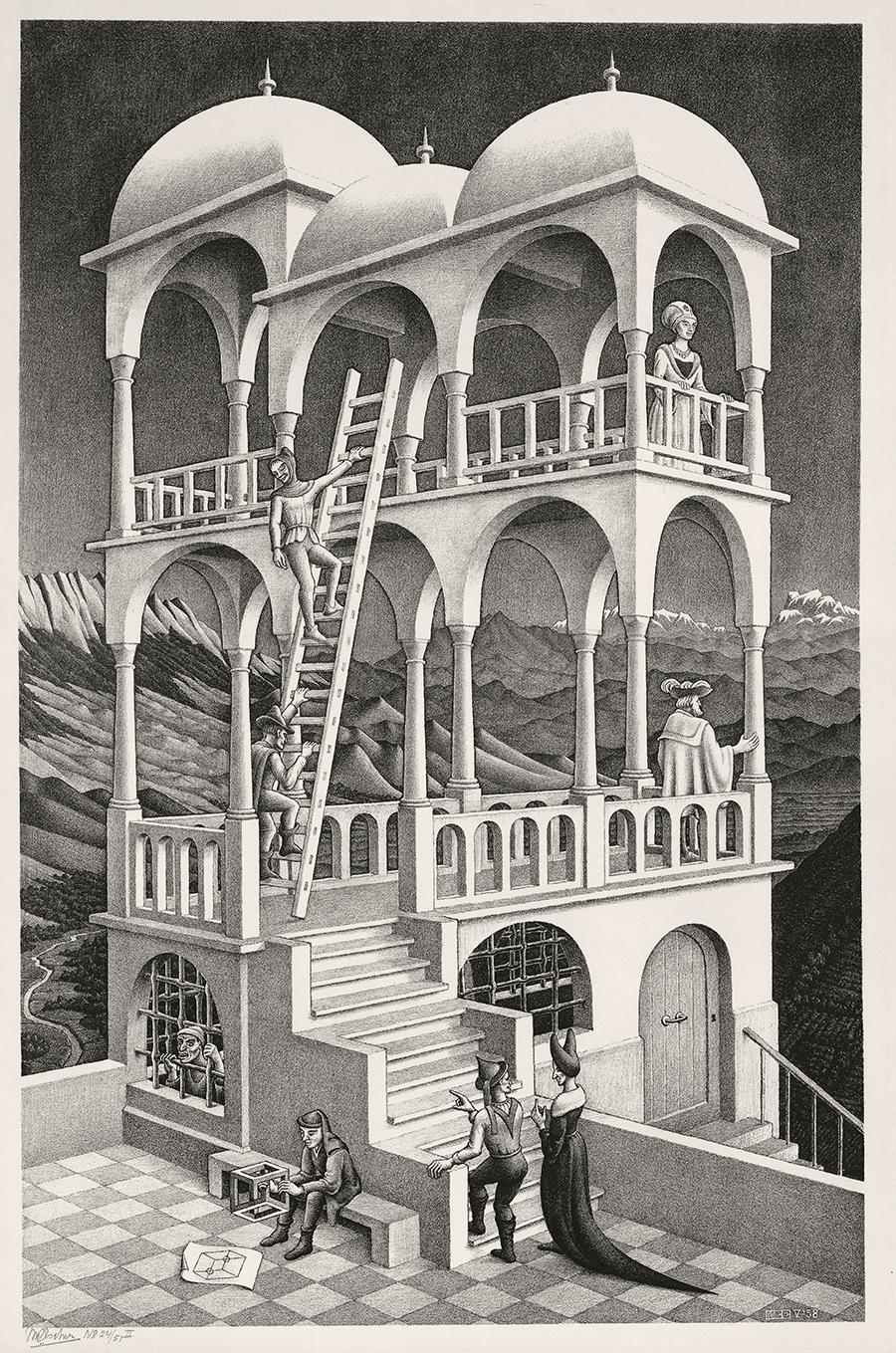 M C Escher S Iconic Illusory Landscapes Come To New York Frieze