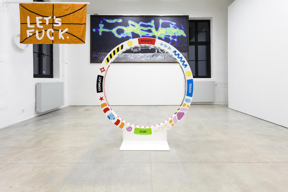 Nik Kosmas Bodyhunter Mandala 3b (2020) metal, pvc, acrylic 180x180x30cm Courtesy of the artist and gallery Temnikova & Kasela