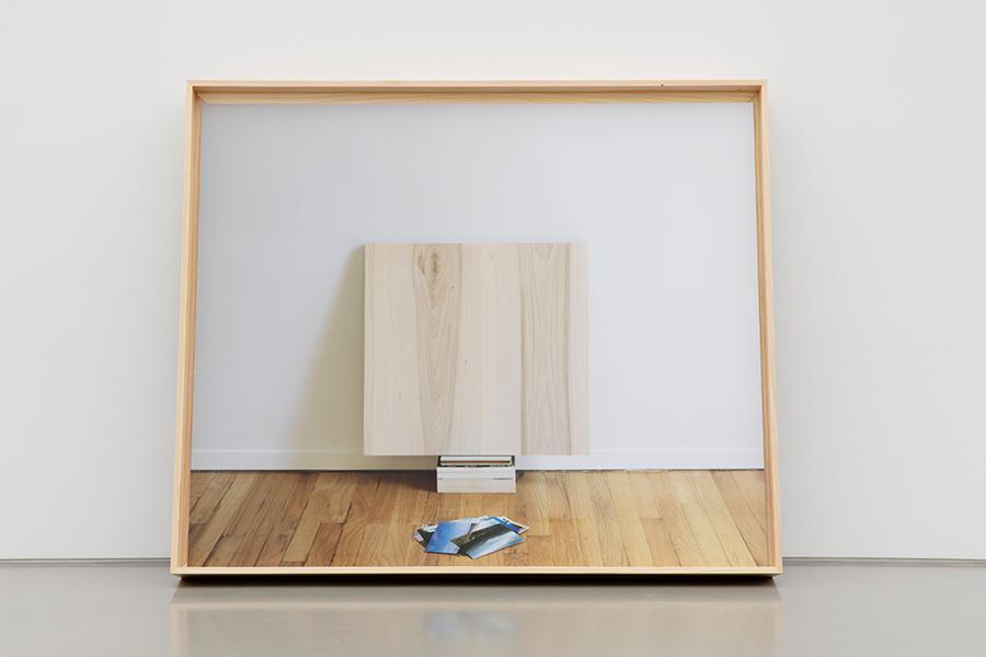 Leslie Hewitt, Untitled (Cornucopia), 2019, digital chromogenic print in custom elm frame, 133 × 158 × 18 cm. Courtesy: the artist and Perrotin; photograph: Guillaume Ziccarelli