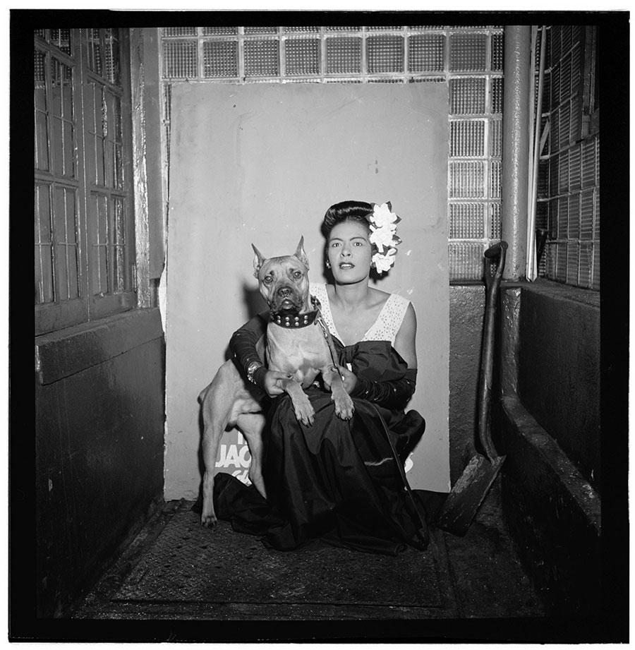 Portrait of Billie Holiday and Mister, Downbeat, New York, NYc.1947