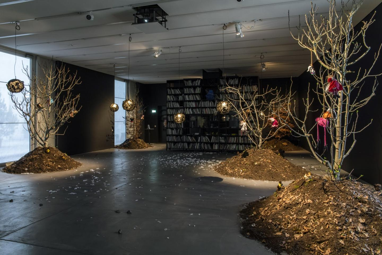 "Precious Okoyomon ""A Drop of Sun Under The Earth,"" Exhibition view at the LUMA Westbau, Zurich, 2019"
