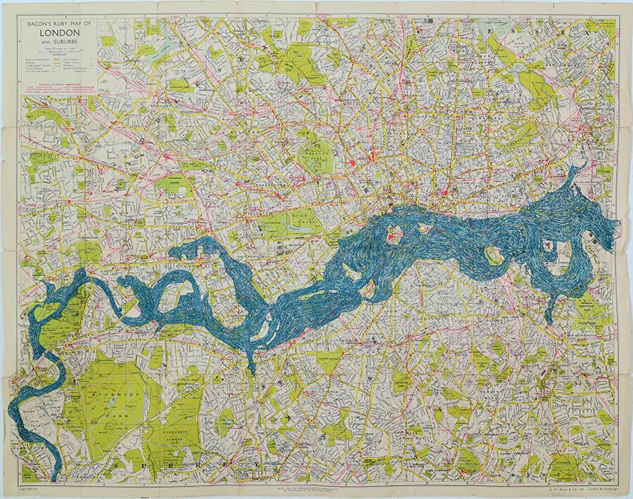 rebecca chesney london tide map