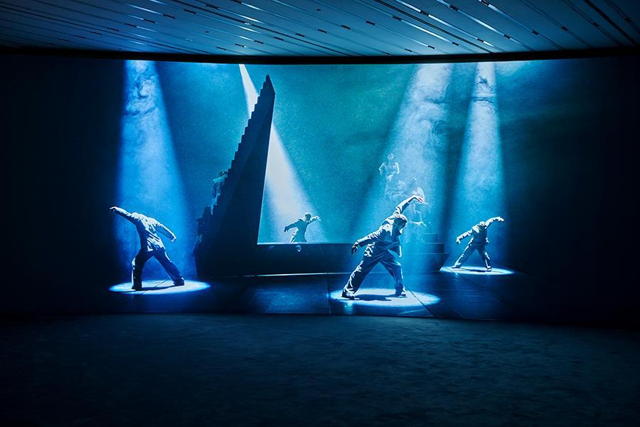 Wu Tsang, 'Visionary Company', 2020, exhibition view, Lafayette Anticipations, Fondation des Galeries Lafayette, Paris. Courtesy: the artist and  Lafayette Anticipations, Fondation des Galeries Lafayette, Paris; photograph: Pierre Antoine