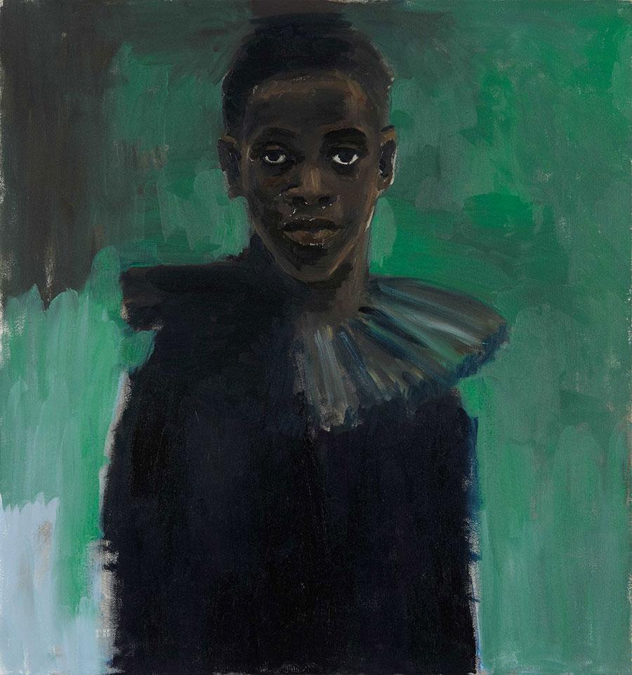 Lynette Yiadom-Boakye,APassion Like No Other, 2012, oil on canvas, 84 x 80cm.Courtesy:©Lynette Yiadom-Boakye