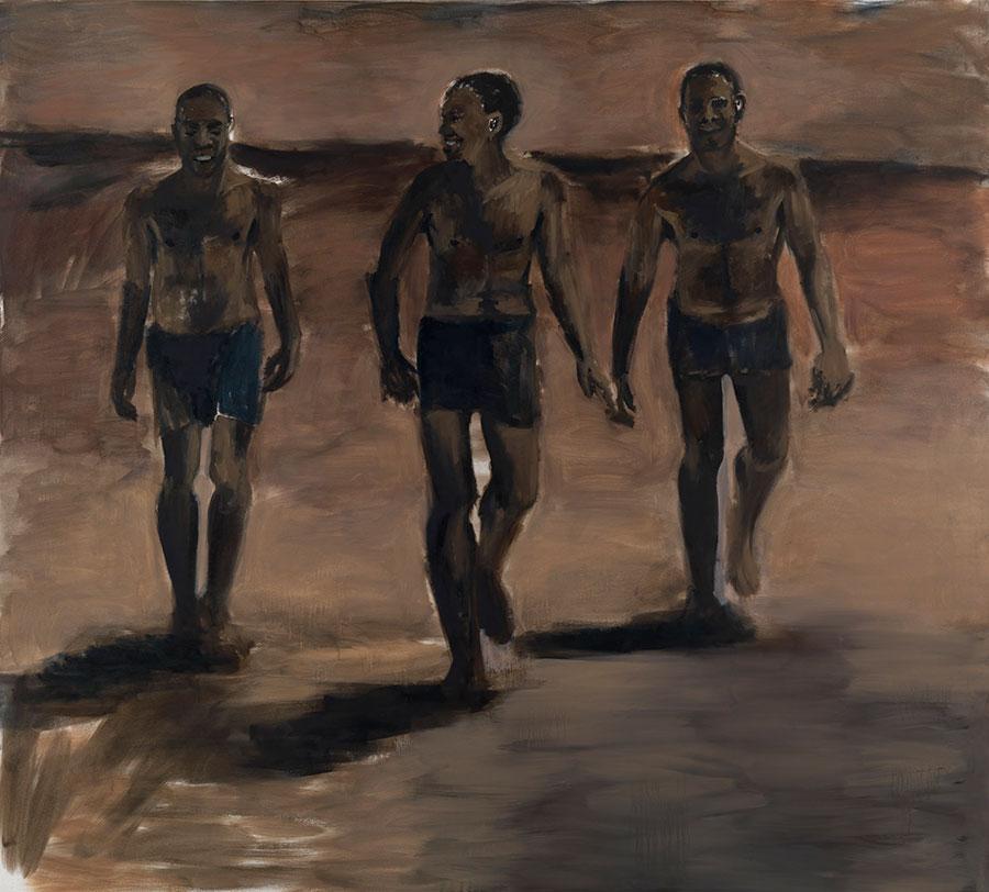 Lynette Yiadom-Boakye,Hard Wet Epic 2010, oil on canvas,180 x 200cm.Courtesy:©Lynette Yiadom-Boakye